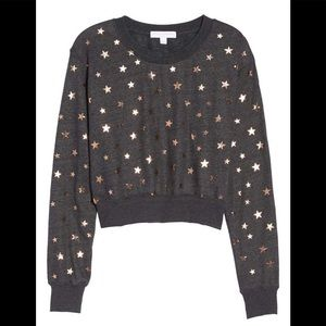 Spiritual Gangster Starry Vibes Crop Pullover M